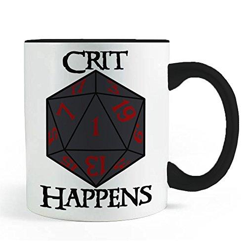 Crit Happens: Nerdy RPG D20 - Coffee and Tea Mug