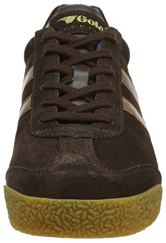tobacco Harrier Gola navy brown Homme Marron Suede Baskets Owqp48