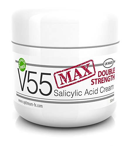 V55 MAX Double Strength Salicylic Acid Cream for Spots Blackheads Blemishes...