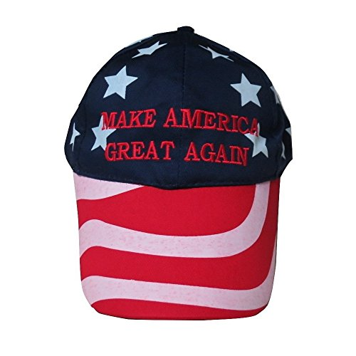 (TrendyLuz Make America Great Again Donald Trump MAGA Baseball Cap Hat (Stars & Stripes))