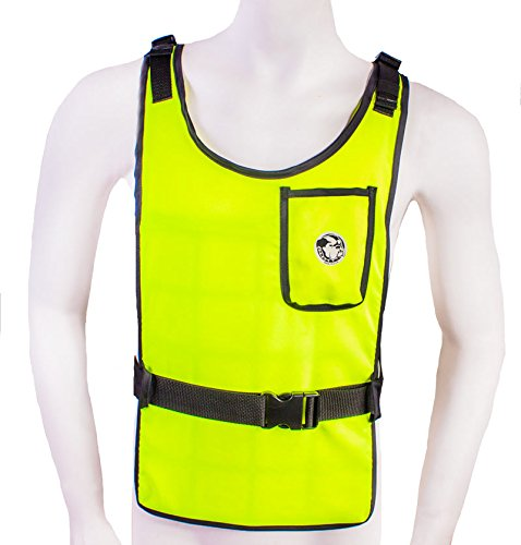 (Self Charging High Vis Lime Cooling Vest with Inserts)