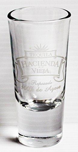 Hacienda Vieja Reposado 100% De Agave Tequila 4oz Promotional Glass