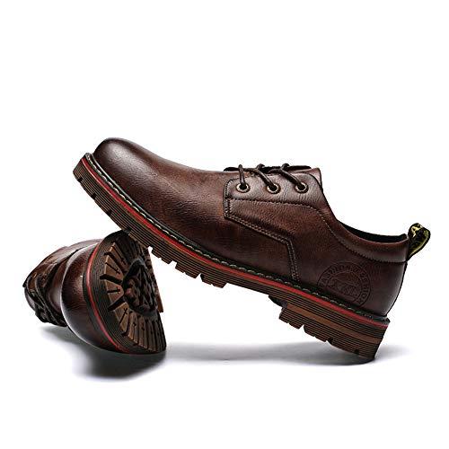 Retro Oxford Uomo Affari Nuovi Scarpe Scarpe Martin Arte Autunno Formali Marrone da Light Casual Inverno Cricket Nuova da qtzxB
