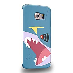 Case88 Premium Designs Pokemon Sharpedo Protective Snap-on Hard Back Case Cover for Samsung Galaxy S6 Edge