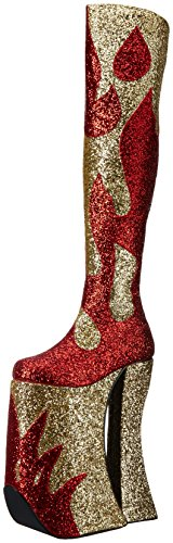 Größe 39 Rot Stiefel Overknee Plateau Heel F 9 3020 Drag SPLASHY Queen US Devious Gold High wPHqzPZ