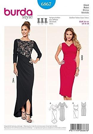 Burda Damen Schnittmuster 6867 – Kleider in 2 Styles: Amazon.de ...