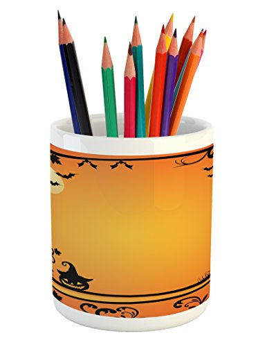 Lunarable Vintage Halloween Pencil Pen Holder, Halloween Themed