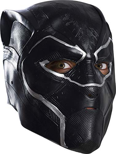 Rubie's Men's Black Panther 3/4 Mask Vinyl Adult, Multi, One Size]()
