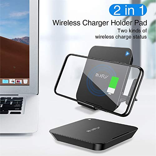 - m·kvfa Qi Fast Wireless Charger Adjustable Folding Charging Stand for iPhone X/XS for Samsung Galaxy High Power Quick-Acting Charging
