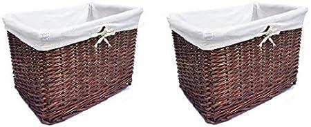 BROWN OR WHITE LARGE BIG WIDER WICKER STORAGE KITCHEN TOY LAUNDRY HAMPER BASKET