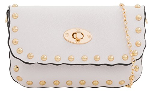HandBags Bag Round Girly White Girly HandBags Studs Clutch Studs Round IqOxA