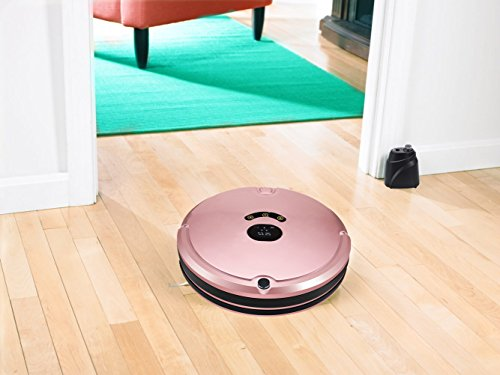 HUIBOT S01 Robotic Vacuum Mop Sweeper Cleaner With Virtual Wall Anti-Drop Self Charging for Pet Hair Allergens for Hard Wood Floor and Thin Carpet (Rose) by HUIBOT (Image #3)
