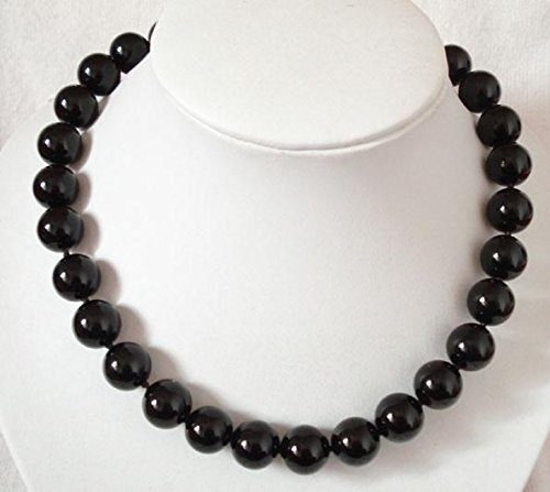 Onyx Bead 18' Necklace (Trendy Accessory Crafts 8mm Black Onyx Howlite Beads Necklace Christmas gifts DIY Jewelry Stone 18'' Wholesale Stone Balls Gifts)