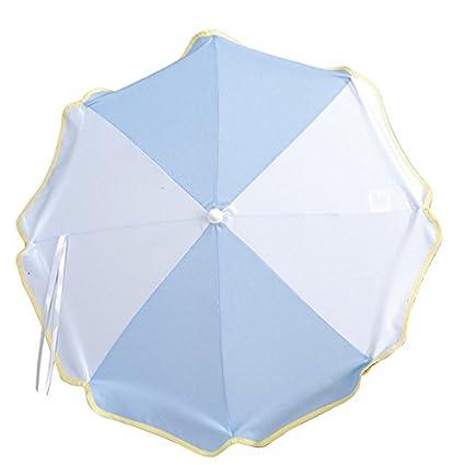 SOMBRILLA carrito bebe AZUL. Parasol muy fácil de acoplar al carrito, incluye Flexo para