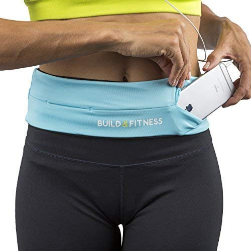 Build & Fitness Running Belt Waist Adjustable, Comfortable Slim with Key Clip - Fits Fuel Gel, iPhone 6,7,8plus,X, Samsung S7,S8,S9 - for Men, Women, Runners, Jogging, Gym, Yoga, Workout, Sports by Build & Fitness (Image #5)