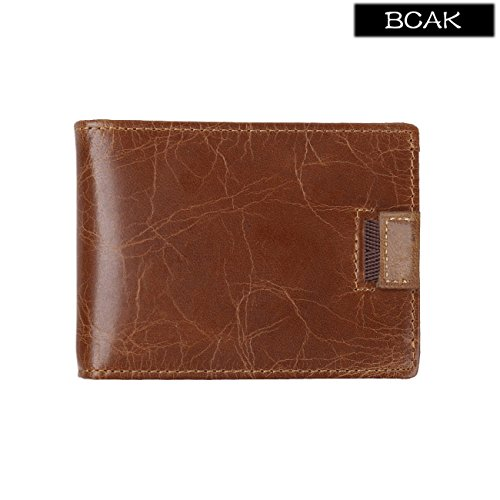 Wallets Cowhide HopeEye jblqb02 Leather 1 Genuine Men Coffee 1 Coffee Classic Retro rppnwYTqt