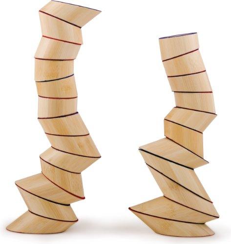 Award Winning Hape Totter Tower Blocks Toddler Bamboo Stacking Set