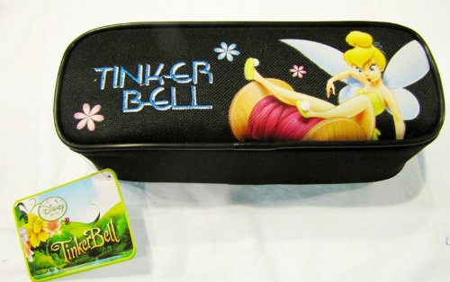 Black Tinkderbell Pencil Pouch Case