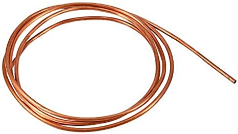 Shanbor Copper Tube,2M Soft Copper Tube Pipe OD 4mm x ID 3mm for Refrigeration Plumbing
