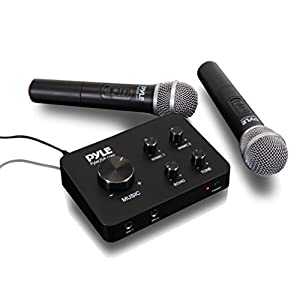 Pyle Portable Home Theater Karaoke Microphone...