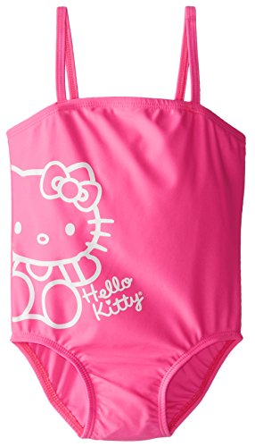 Hello Kitty Little Girls' Toddler Pink One Piece, Hot Pink, 3T