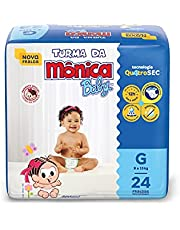 Fralda Turma da Monica Baby Jumbo G 24 Unidades, Turma da Mônica Baby, Azul, G