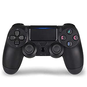 Wireless Controller for PS4 Remote for Sony Playstation 4 Joystick with Charging Cable,Jet Black,New Model