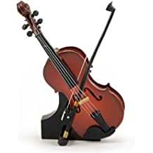 A Classic Miniature Replica Of A Beautiful Violin and Bow with Stand & Case
