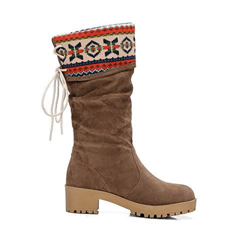 BalaMasa Womens Casual Slip-Resistant Assorted Color Urethane Boots ABL10127 Brown 5W4j05cw