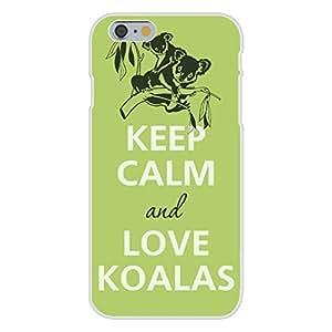 Apple iphone 4 4s Custom Case White Plastic Snap On - Keep Calm and Love Koalas Bear in Tree
