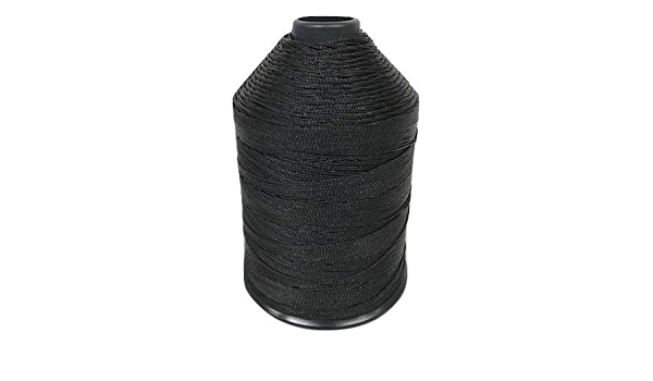 upholstery and more Braided Poly Thread Black Size 415 Bonded 1 lb for leather