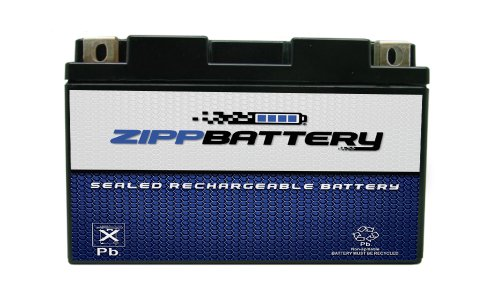 Chrome Battery YT7B-BS High Performance Maintenance Free Sealed AGM Motorcycle Battery