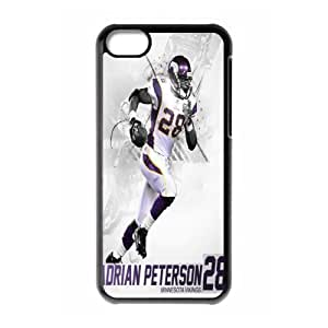 MINNESOTA VIKINGS NFL Classic Design Print Black Case With Hard Shell Cover for Apple iPhone 5C