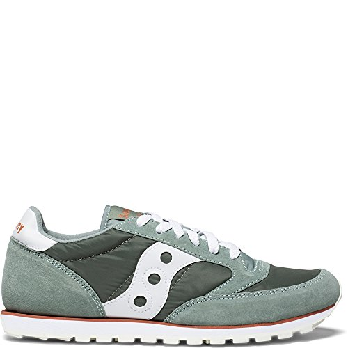 Saucony Originals Men's Jazz Low Pro Running Shoe, Green/White, 9 Medium US