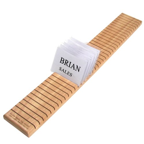 (C-Line Wooden Name Badge Holder, 40-Card Capacity, 3.5 x 0.75 x 23.63 Inches, Oak Finish, One Each)