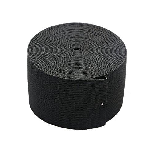 Sale!! 2-inch Black Knit ELASTIC Spool Wide Heavy Stretch Elastic Band,5 Yards
