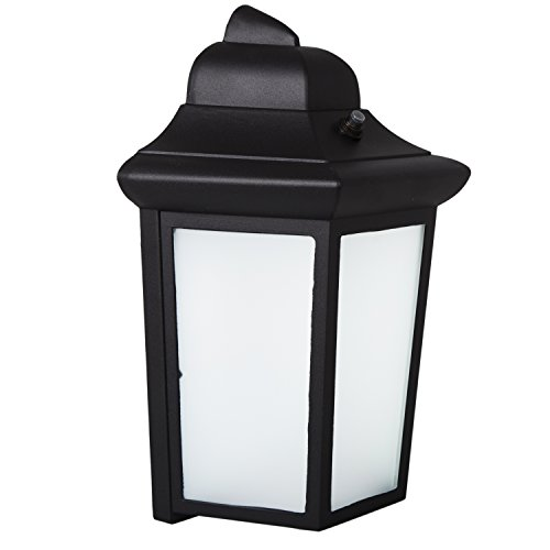 Maxxima LED Sconce Outdoor Wall Light, Black W/ Frosted