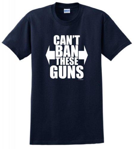 Can't Ban These Guns T-Shirt Medium Navy