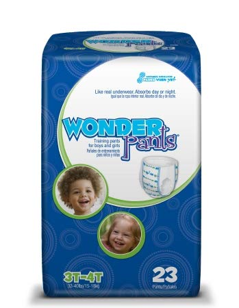 14673100 Toddler Training Pants WonderPants Pull On 3T - 4T Disposable Heavy Absorbency