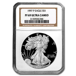 1997-P (PROOF) Silver American Eagle - PR-69 UCAM NGC
