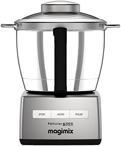 Magimix Patissier 6200 XL 1500W 4.9L Cromo - Robot de cocina (4,9 L, Cromo, Botones, Acero inoxidable, 1500 W, 210 mm): Amazon.es: Hogar