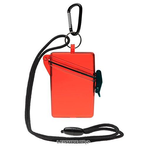 WITZ See it Safe Waterproof ID/Badge Holder Case, Clear red by Witz