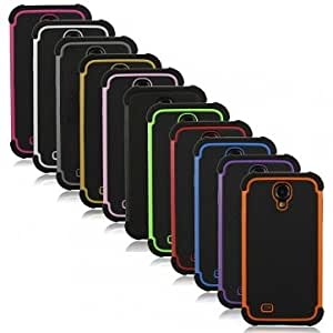 Silicone Football Pattern Protective Case For Samsung Galaxy S4 i9500 --- Color:Black