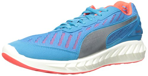 PUMA Men's Ignite Ultimate Running Shoe, Atomic Blue/Red Blast, 9.5 D US
