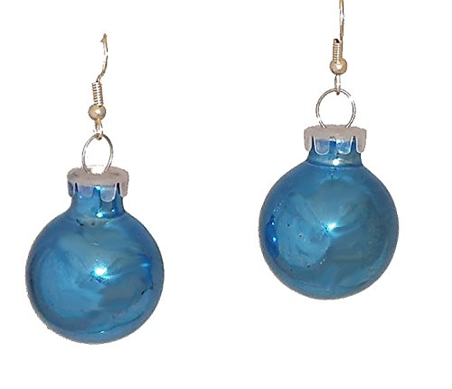 Blue Color Holiday Glass Ornament Ball Dangling ()