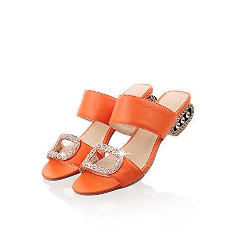 Bajo Tacón Verano Cómodos De Nuevas Orange Sandalias De Zapatos De Mujer PZxAKFwCq