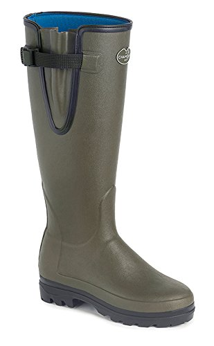 With Calf 38 Lined Adjustable Le Chameau Green Wellingtons Warm Neoprene Gusset 5 Ladies Ladies Vierzonord Euro UK Wz08xSz