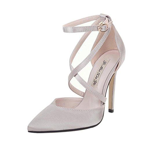 altos Zapatos de en tacones de de fino de cruzadas palabra tacón tacón solo mujer un Correas mujer Zapatos hebilla mujer Zapatos GAOLIXIA de de en Apricot alto Zapatos Zapatos oto de y punta boda de Primavera w8zCpZZqx