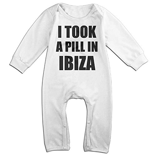 HOHOE Babys I Took A Pill In Ibiza Long Sleeve Bodysuit 18 Months