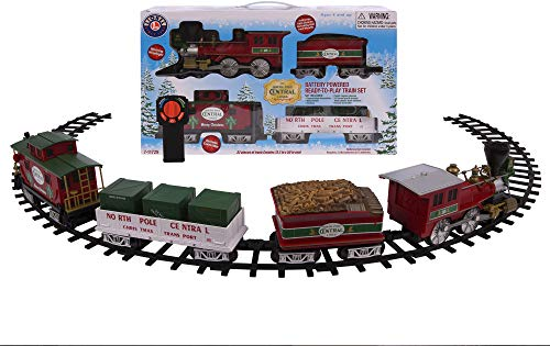 Christmas Tree Trains Sets (Lionel North Pole Central Battery-powered Model Train Set Ready to Play w/)